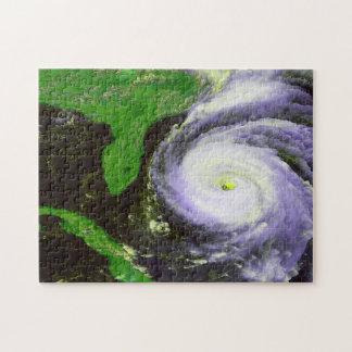 フロリダを離れたハリケーンのフラン- 1996の衛星イメージ ジグソーパズル
