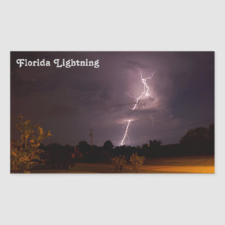 フロリダ夜稲妻のステッカー 長方形シール