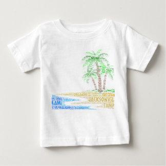 フロリダ市と図解入りの、写真付きのな熱帯島 ベビーTシャツ