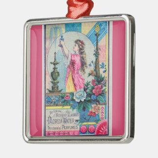 フロリダ水ヴィンテージの香水の広告のビクトリア時代の人のdeco メタルオーナメント