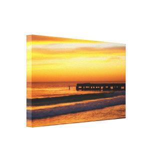 フロリダ湾海岸の日没 キャンバスプリント