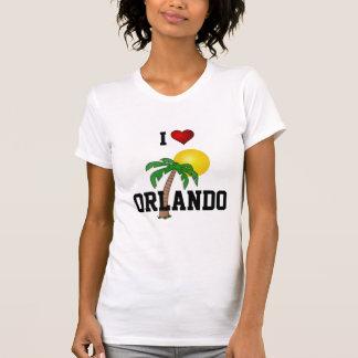 フロリダ: 私はオーランドのヤシの木および太陽を愛します Tシャツ