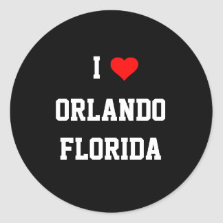 フロリダ: 私はオーランド、フロリダを愛します ラウンドシール