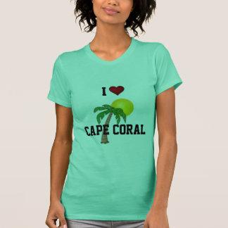 フロリダ: 私は岬の珊瑚のヤシの木および太陽を愛します Tシャツ
