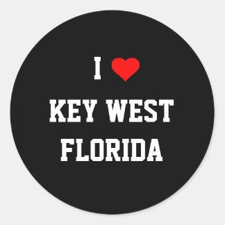 フロリダ: 私はKey West、フロリダを愛します ラウンドシール