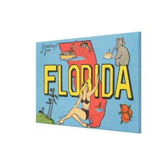 フロリダ(青い)フロリダからの挨拶 キャンバスプリント