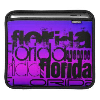フロリダ; 鮮やかなすみれ色の青およびマゼンタ iPadスリーブ