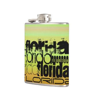 フロリダ; 鮮やかな緑、オレンジ、及び黄色 フラスク