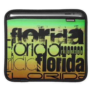 フロリダ; 鮮やかな緑、オレンジ、及び黄色 iPadスリーブ
