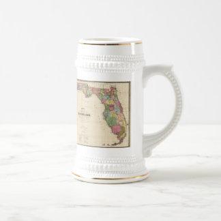 フロリダ(1870年)のヴィンテージの地図 ビールジョッキ