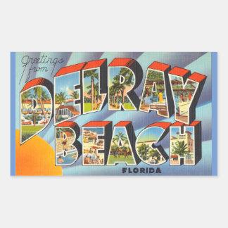 フロリダ、Delray Beachのステッカー 長方形シール