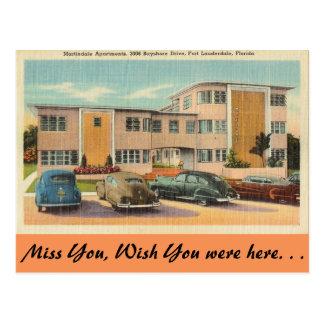 フロリダ、Fort LauderdaleのMartindaleのアパート ポストカード