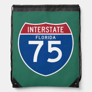 フロリダFL I-75の州間幹線道路の盾- ナップサック