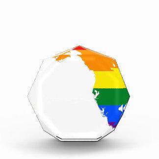 フロリダLGBTの旗の地図 表彰盾