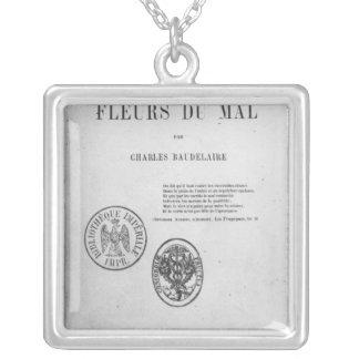 フロントカバー、「LesのフルーアDUの初版 シルバープレートネックレス