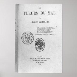 フロントカバー、「LesのフルーアDUの初版 ポスター