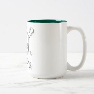 フロント・ポーチのコーヒー・マグ ツートーンマグカップ
