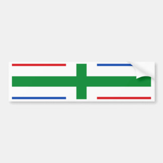 フローニンゲン(地域)の旗 バンパーステッカー