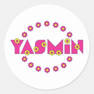 フローレス島のピンクのヤズミン ラウンドシール
