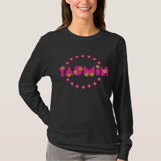 フローレス島のピンクのヤズミン Tシャツ