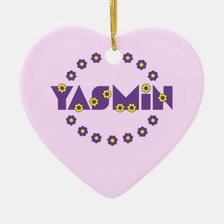 フローレス島の紫色のヤズミン セラミックオーナメント