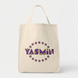 フローレス島の紫色のヤズミン トートバッグ