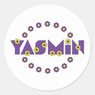 フローレス島の紫色のヤズミン ラウンドシール