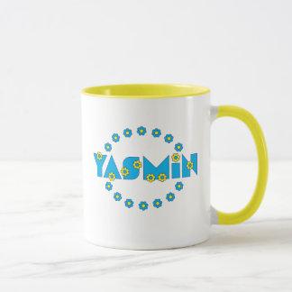 フローレス島の青のヤズミン マグカップ