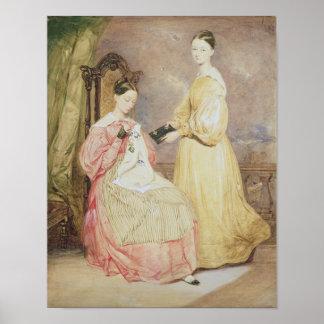 フローレンス・ナイチンゲールおよび彼女のポートレート ポスター