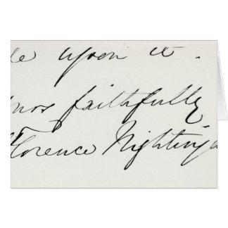フローレンス・ナイチンゲールの署名 カード
