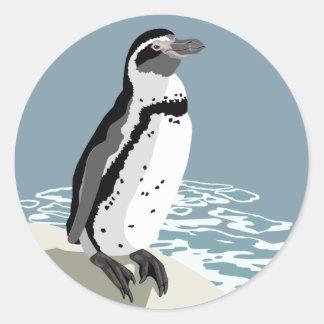 フンボルトのペンギンのステッカー ラウンドシール