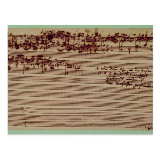 フーガ、1740年代の芸術の最後のページ ポストカード