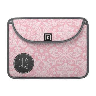 フーセンガムのピンクのダマスク織; レトロの黒板 MacBook PROスリーブ