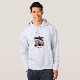 フード付きスウェットシャツのスエットシャツのクラシックなマホガニーのボートのプリント パーカ