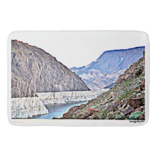 フーバー・ダムかコロラド川の大きくカスタムなバス・マット バスマット