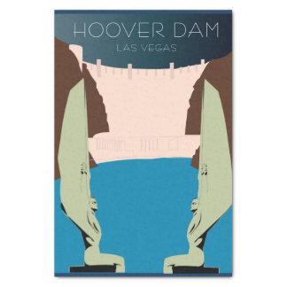 フーバー・ダムのティッシュペーパー 薄葉紙