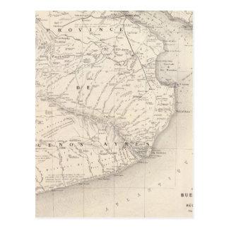 、ブエノスアイレスの近隣の地域の地域地図を描いて下さい ポストカード