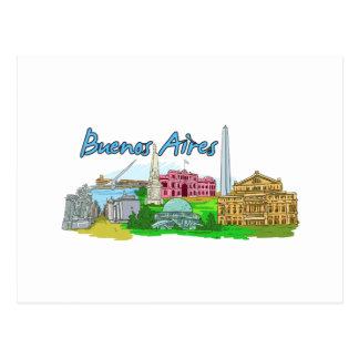 ブエノスアイレス-アルゼンチン ポストカード