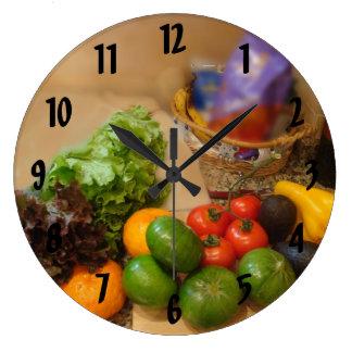 ブエノスアイレスw数の野菜 ラージ壁時計