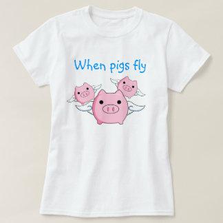 ブタが飛ぶ時 Tシャツ
