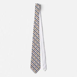 ブタのおもしろいでストライプのなタイと踊ること オリジナルネクタイ