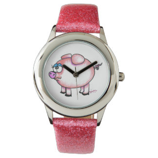 ブタのスタイルの腕時計 腕時計