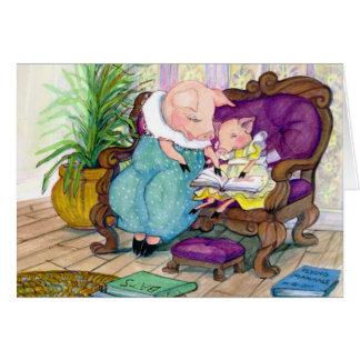 ブタのママおよびクララのコピー カード