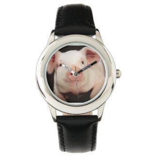 ブタの写真が付いている腕時計 腕時計