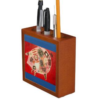ブタの机のオルガナイザー ペンスタンド