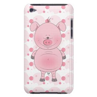 ブタの漫画のipod touchの陽気なピンクの場合 Case-Mate iPod touch ケース