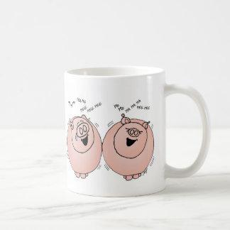 ブタの笑うこと! コーヒーマグカップ