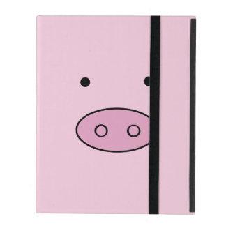 ブタの顔、ブタの鼻、ブタの鼻、豚のような少し-ピンク iPad ケース