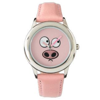 ブタの顔 腕時計