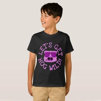 ブタを野生に得よう Tシャツ